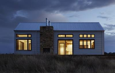 Warm Wisconsin House at Night - Weyer & Sons in Washington County